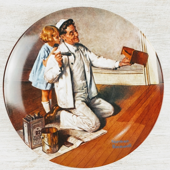"Norman Rockwell Other - 1983 ""The Painter"" Norman Rockwell Plate"